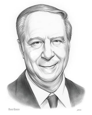Drawing - David Gergen by Greg Joens