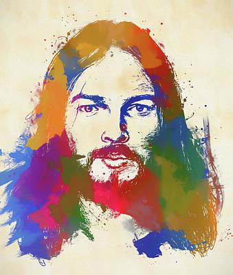 Painting - David Gilmour by Dan Sproul