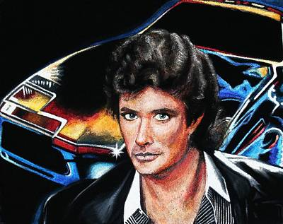 Other Painting - David Hasselhoff by Kate Fortin