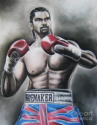 David Haye Art Print by Anastasis  Anastasi