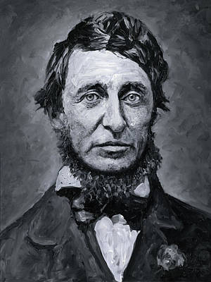 Painting - David Henry Thoreau by Christian Klute