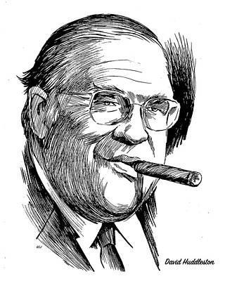 Drawings Rights Managed Images - David Huddleston Royalty-Free Image by Greg Joens