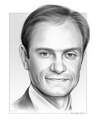 Drawing - David Hyde Pierce by Greg Joens