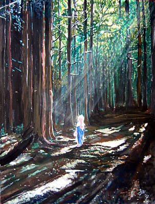 Painting - David In The Forest by Sarah Hornsby