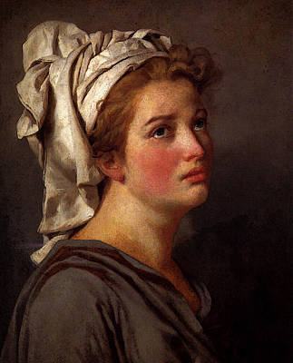 David Jacques Louis Portrait Of A Young Woman In A Turban Art Print