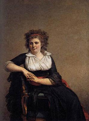 Digital Art - David Jacques Louis Portrait Of The Marquise D Orvilliers by Jacques Louis David