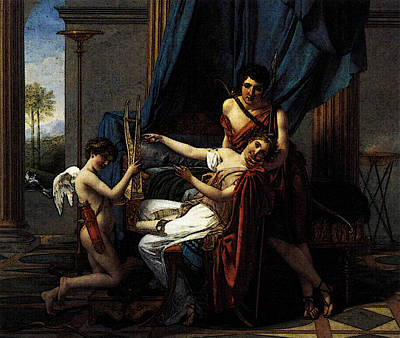 Digital Art - David Jacques Louis Sappho And Phaon by Jacques Louis David