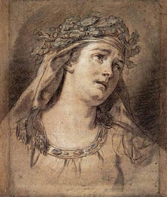 Digital Art - David Jacques Louis Sorrow by Jacques Louis David