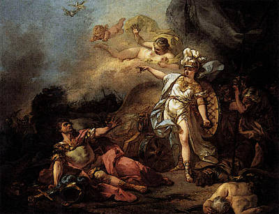 Digital Art - David Jacques Louis The Combat Of Mars And Minerva by Jacques Louis David