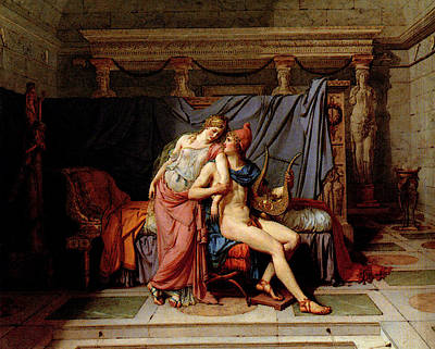 Digital Art - David Jacques Louis The Courtship Of Paris And Helen by Jacques Louis David
