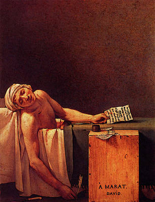 Digital Art - David Jacques Louis The Death Of Marat by Jacques Louis David
