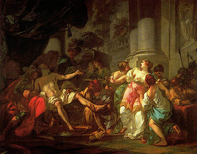Digital Art - David Jacques Louis The Death Of Seneca by Jacques Louis David