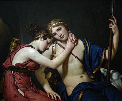 Digital Art - David Jacques Louis The Farewell Of Telemachus And Eucharis by Jacques Louis David
