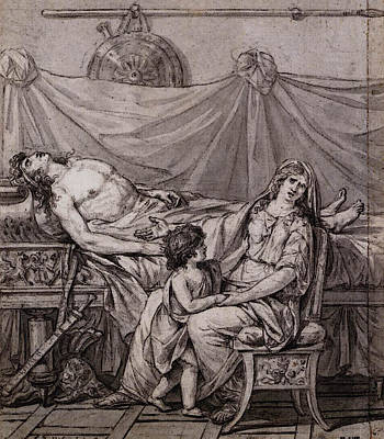 Digital Art - David Jacques Louis The Grief Of Andromache by Jacques Louis David