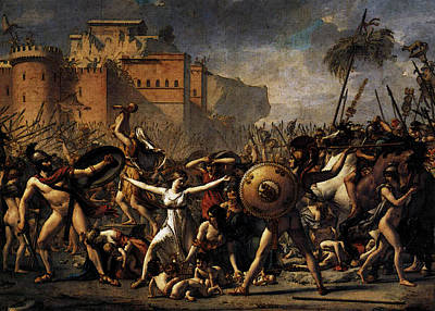 Digital Art - David Jacques Louis The Intervention Of The Sabine Women by Jacques Louis David