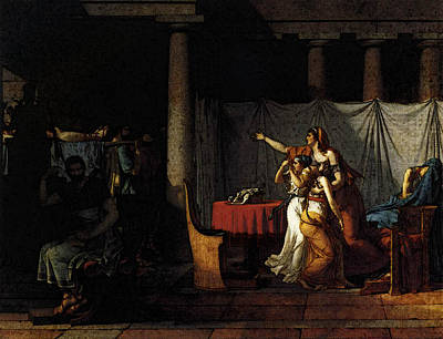 Digital Art - David Jacques Louis The Lictors Returning To Brutus The Bodies Of His Sons by Jacques Louis David