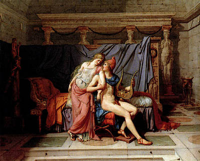 Digital Art - David Jacques Louis The Loves Of Paris And Helen by Jacques Louis David