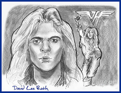 Drawing - David Lee Roth by Chris  DelVecchio