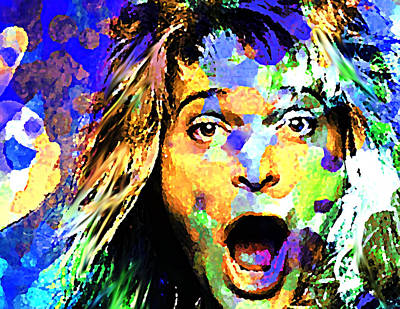 Van Halen Painting - David Lee Roth by Enki Art