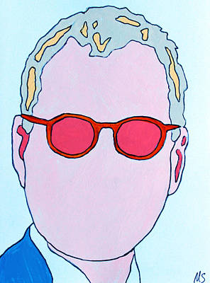 Letterman Painting - David Letterman by Murray Stiller