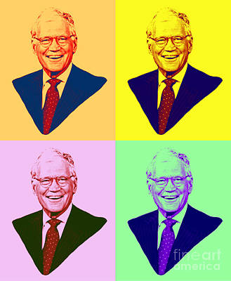 Letterman Painting - David Letterman Pop Art by Pd