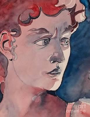 Statue Portrait Painting - David by Lise PICHE
