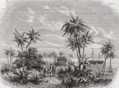 Dr House Drawing - David Livingstone S House In Zanzibar by Vintage Design Pics