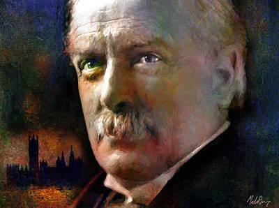 Politicians Mixed Media - David Lloyd George by Mal Bray