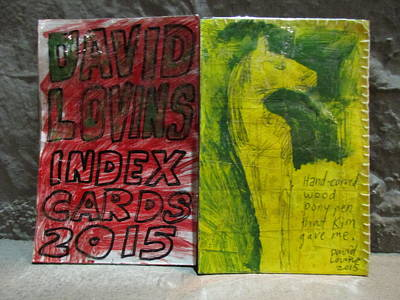 Index Mixed Media - David Lovins Index Cards by David Lovins