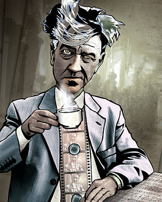 Digital Drawing - David Lynch - Strange Brew by Sam Kirk
