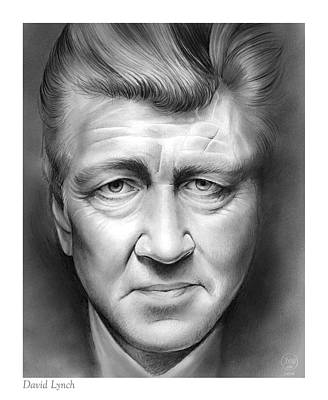 Musicians Drawings - David Lynch by Greg Joens