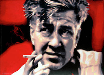 Kiefer Sutherland Painting - David Lynch by Hood alias Ludzska