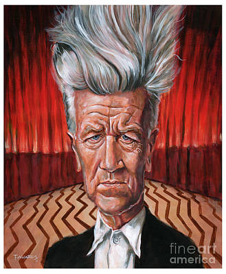 Painting - David Lynch by Mark Tavares