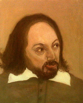 Painting - David Mitchell As William Shakespeare by Peter Gartner