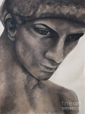 Statue Portrait Drawing - David by Mandylee Munro
