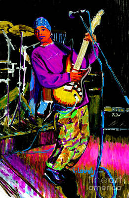 Drum Set Painting - David News by Candace Lovely