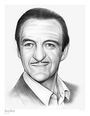 Drawings Rights Managed Images - David Niven Royalty-Free Image by Greg Joens