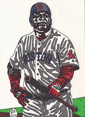 Mlb Boston Red Sox Drawing - David Ortiz 1 by Jeremiah Colley