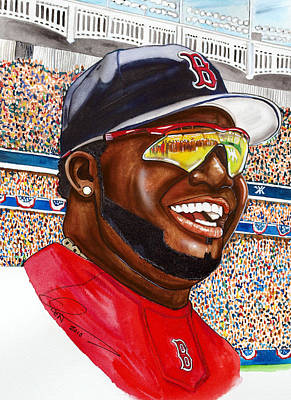 Yankee Stadium Painting - David Ortiz by Dave Olsen