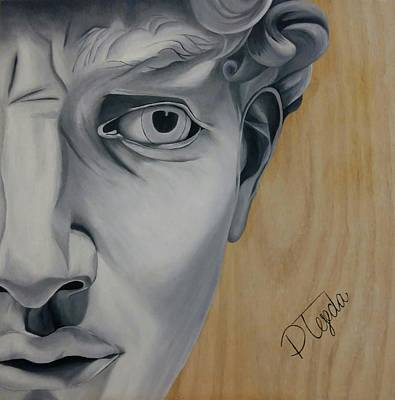 Michaelangelos David Painting - David by Paola Tejeda