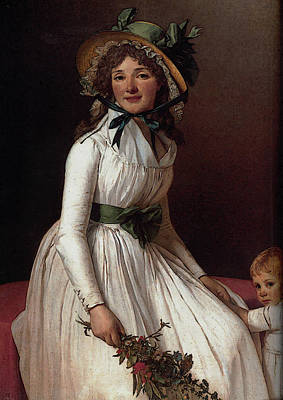 Digital Art - David Portrait Of Emilie Serizait And Her Son by Jacques Louis David