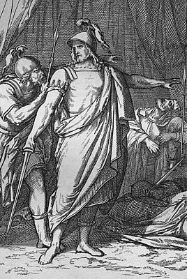 Namaste With Pixels - David protects Saul by Heinz Tschanz-Hofmann