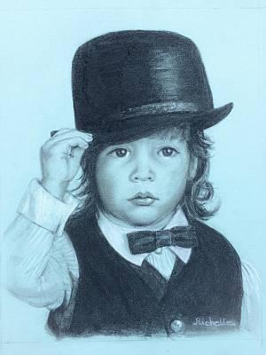Toddler Portrait Painting - David by Richelle Siska