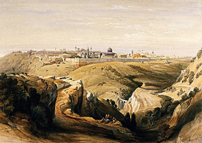 Photograph - David Roberts 1842 Jerusalem by Munir Alawi