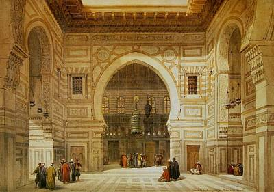 Sultan Painting - David Roberts Interior Of The Mosque Of The Sultan El Ghoree by David Roberts