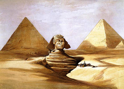 Photograph - David Roberts Pyramids by Munir Alawi
