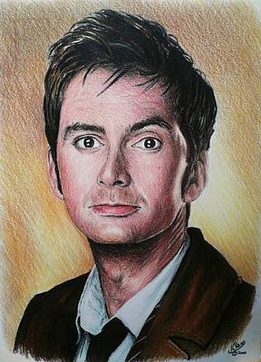 Dr. Who Wall Art - Painting - David Tennant by Andrew Read