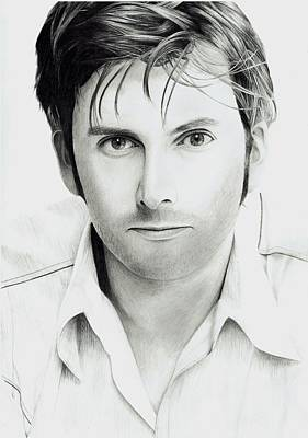 David Tennant Drawing - David Tennant by Robert Parkin