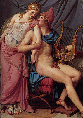 Digital Art - David The Courtship Of Paris And Helen by Jacques Louis David