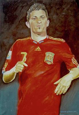 Painting - David Villa by Henryk Gorecki